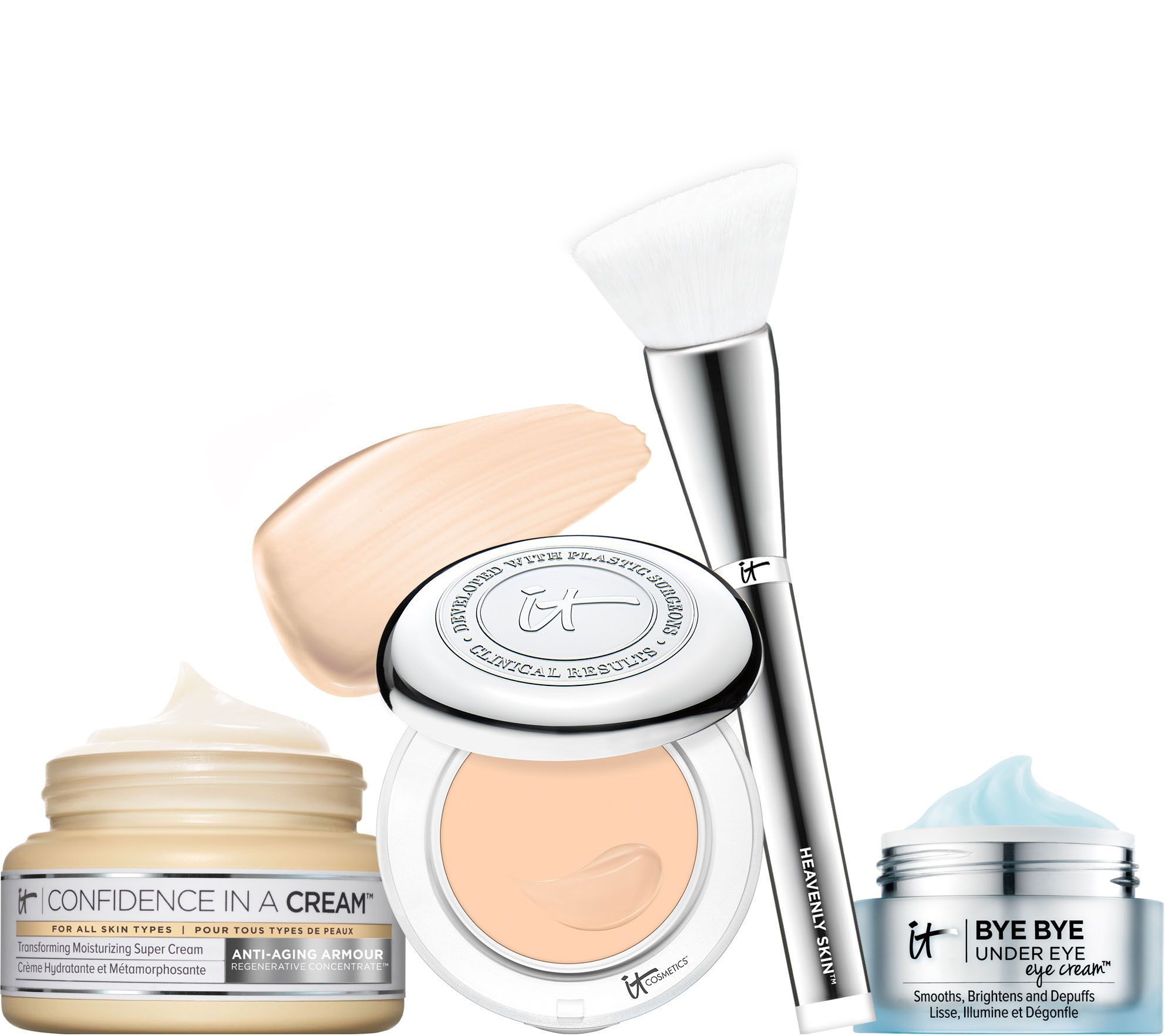 This is an exclusive sneak peek at the TSV on QVC from #itcosmetics I have a sneak peek review @ http://aguidetowhatsinsideyourbeautybag.blogspot.com/2017/01/it-cosmetics-confidence-in-compact-full.html #NewYearNewConfidence #itgirls
