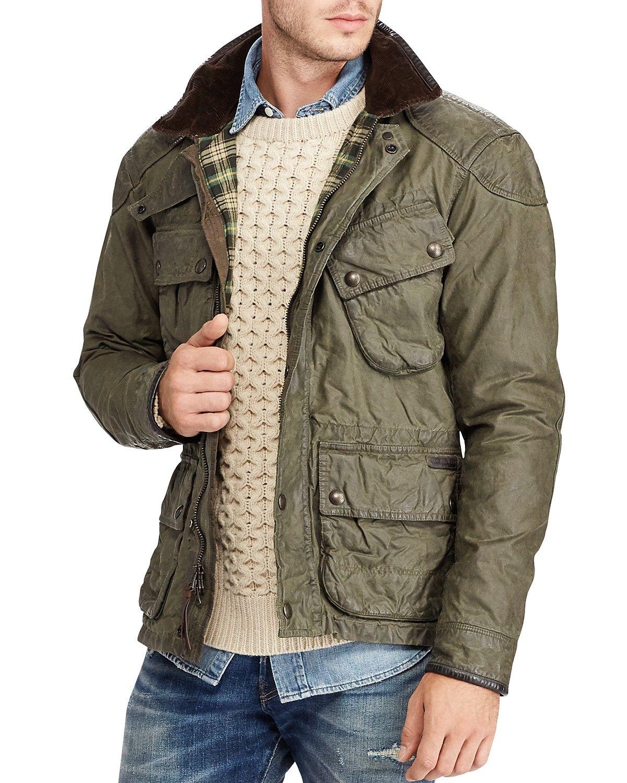 Polo Ralph Lauren Iconic Waxed Cotton Biker Jacket  15b37124ec