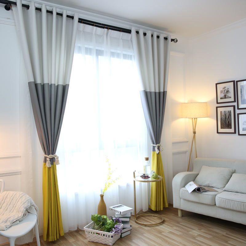 Günstige 3 Farben Striped Blackout Vorhänge für das Schlafzimmer - moderne wohnzimmer vorhange