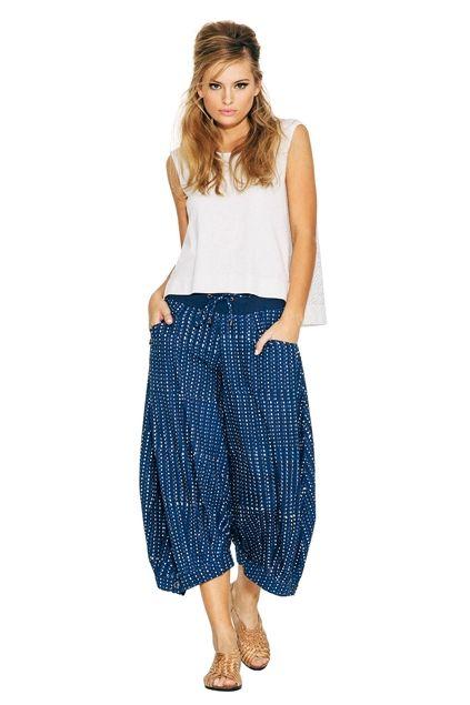 0397db1089d0 Boom Shankar 50s dresses Guru Indigo Printed Pants - Womens Pants -  Birdsnest Fashion Clothing