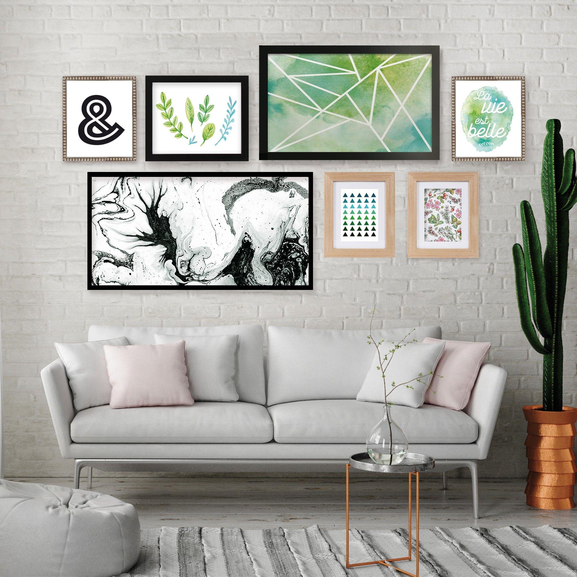 comment disposer un cadre sur un mur en 2019 d co. Black Bedroom Furniture Sets. Home Design Ideas