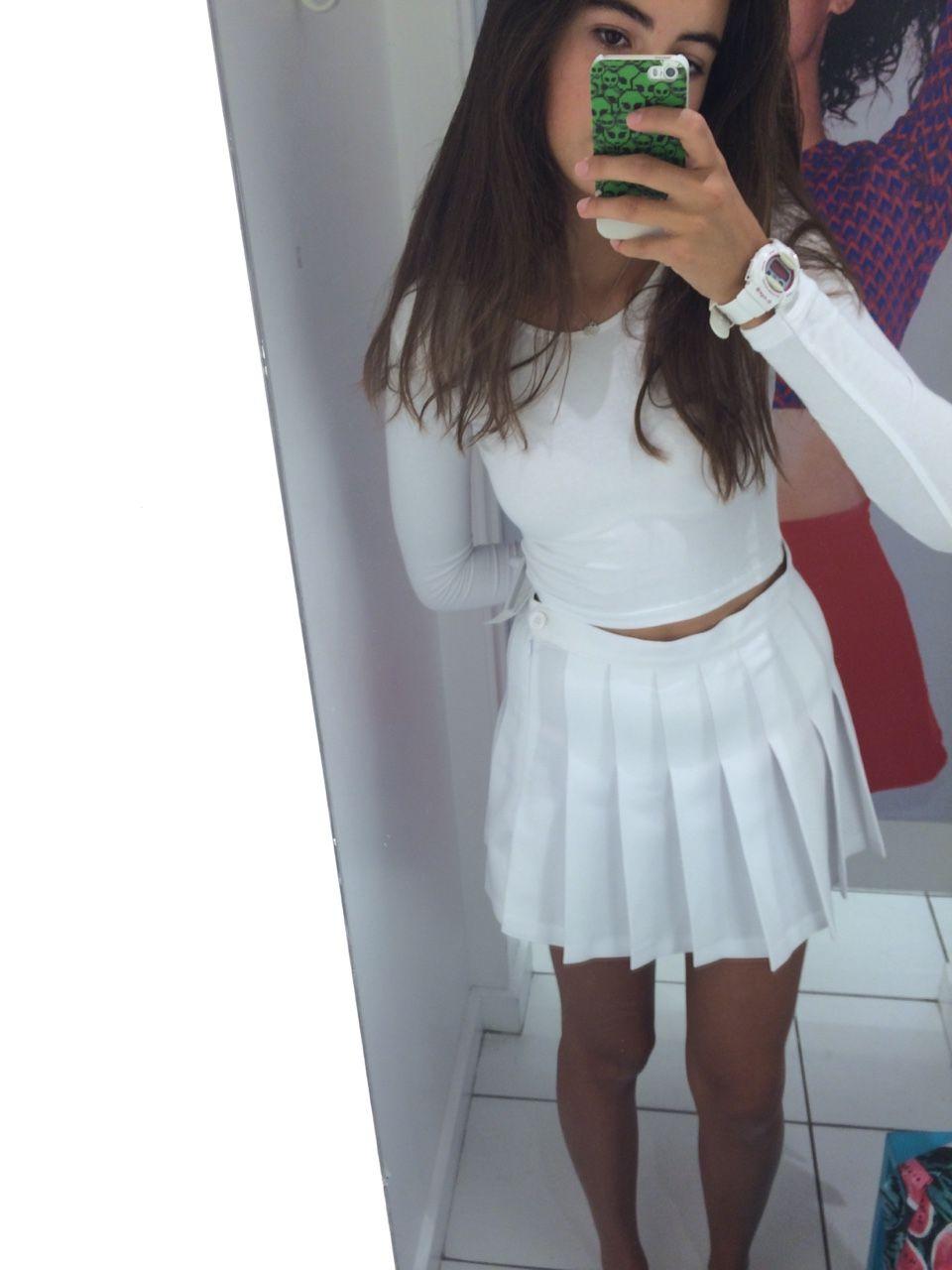 Tennis Skirt On Tumblr Skirts Skirt Tumblr Pleated Tennis Skirt