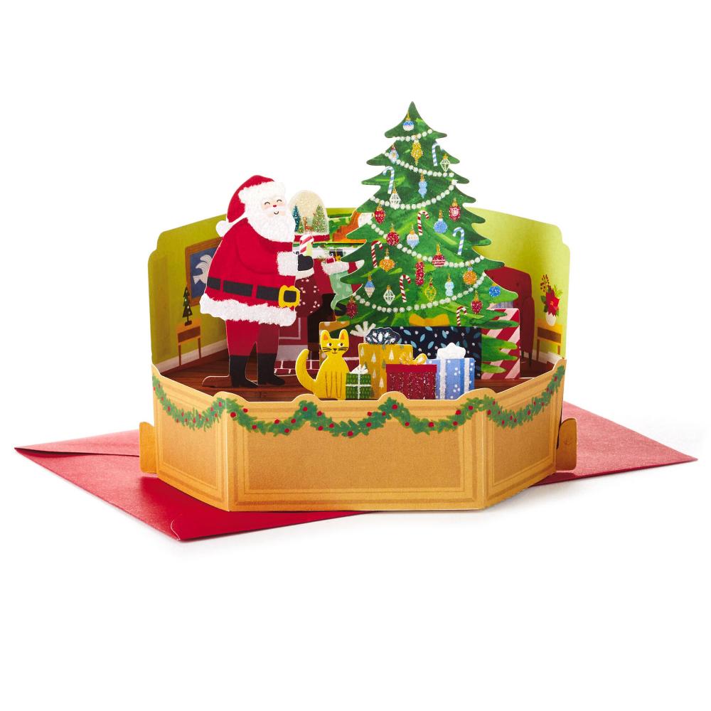 Merry Christmas Santa Mini 3d Pop Up Christmas Card Pop Up Christmas Cards Christmas Cards Kids Christmas Card Template