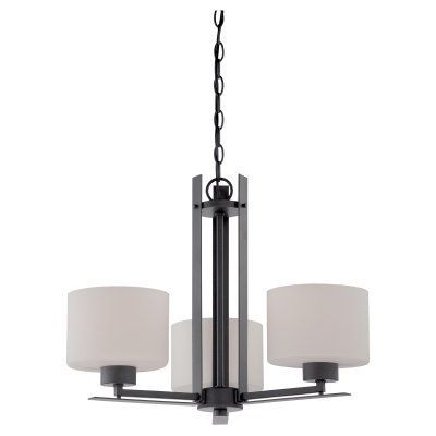 Nuvo 60/5 Parallel 3 Light Chandelier Aged Bronze - 60/5306