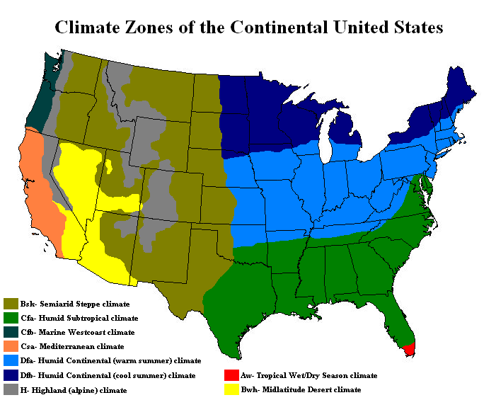 united states climate regions map Free Printable Maps: Climate Maps | United states map, Climates