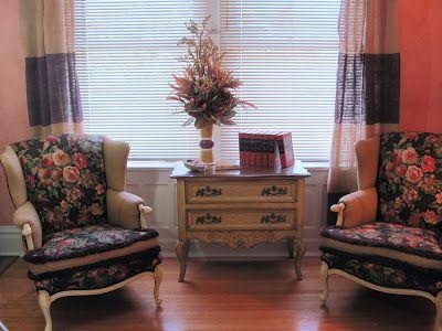 painted burlap curtains
