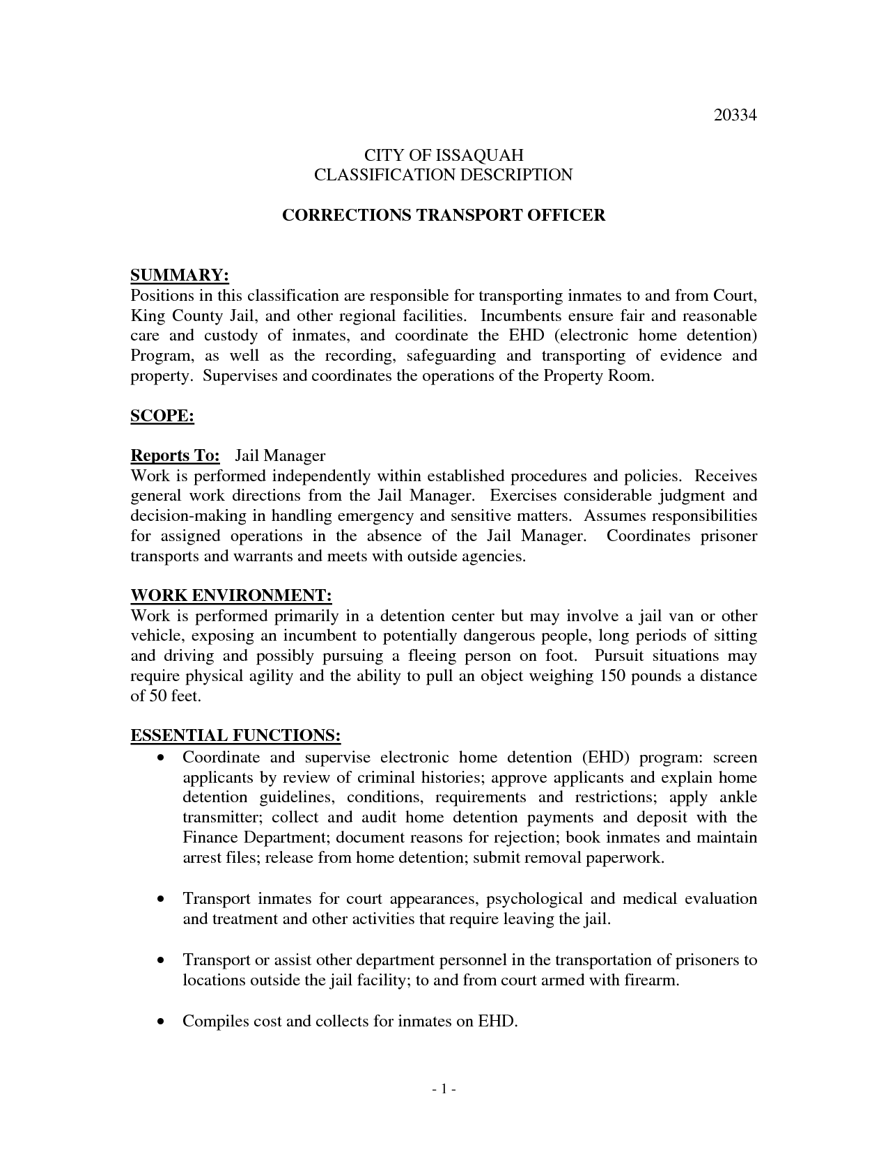 Correctional Officer Resume No Experience Http Www Jobresume