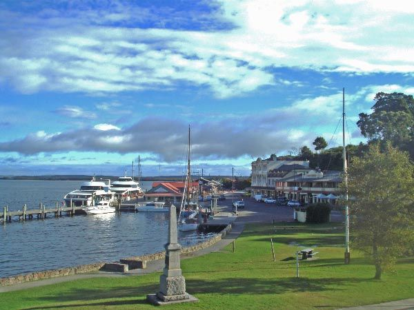 Views of the Strahan harbour. #strahan #tasmania #discovertasmania  Photo by Eye See Personalised Tours.