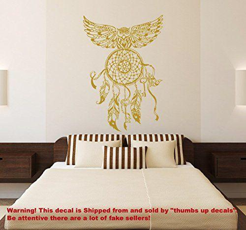 dream catcher decal owl wall decals bedroom hippie native american