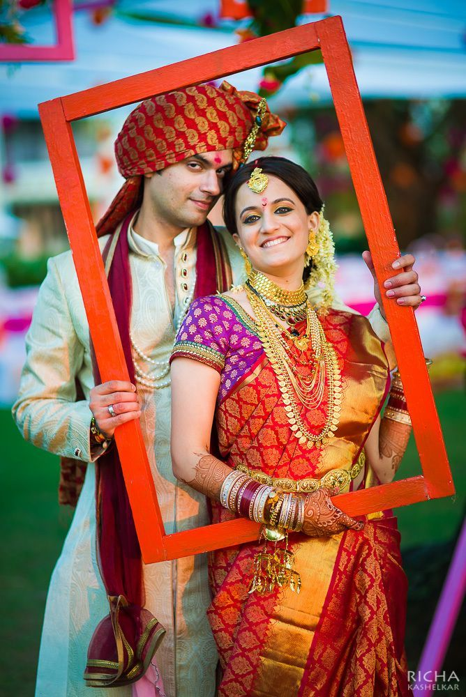 Photo frame click of Couple Indian wedding photography