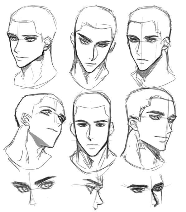 Pin By Camille Yu On M Drawing Expressions Face Drawing Reference Male Face Drawing Anime Male Face