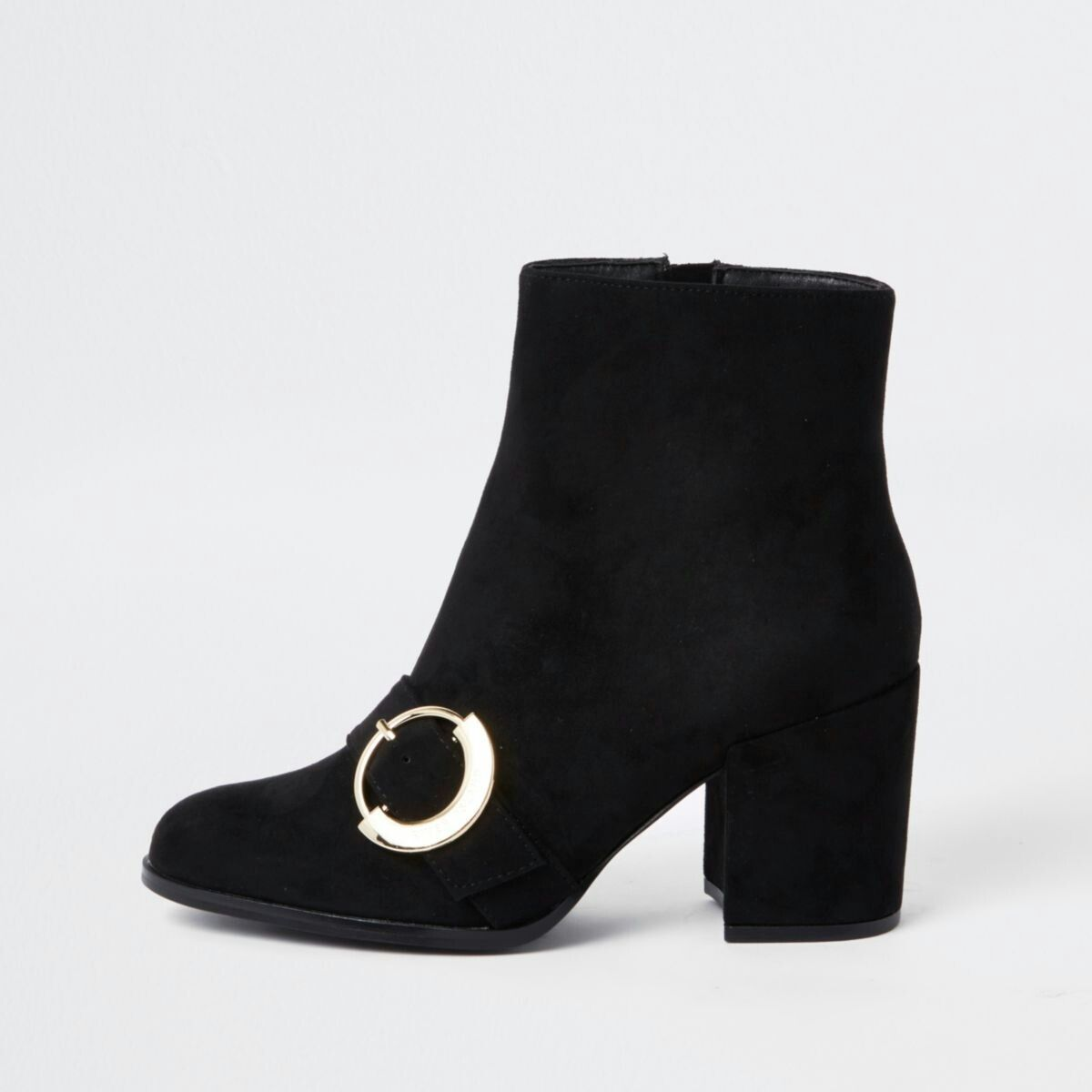 9fa5b3f6082 Black suede block heel sock boots | Ankle boots in 2019 | Boots ...