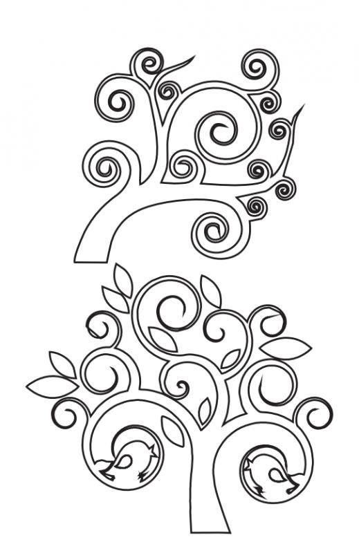 6 modelos de árboles para calar   Cortes y Calados   Pinterest ...