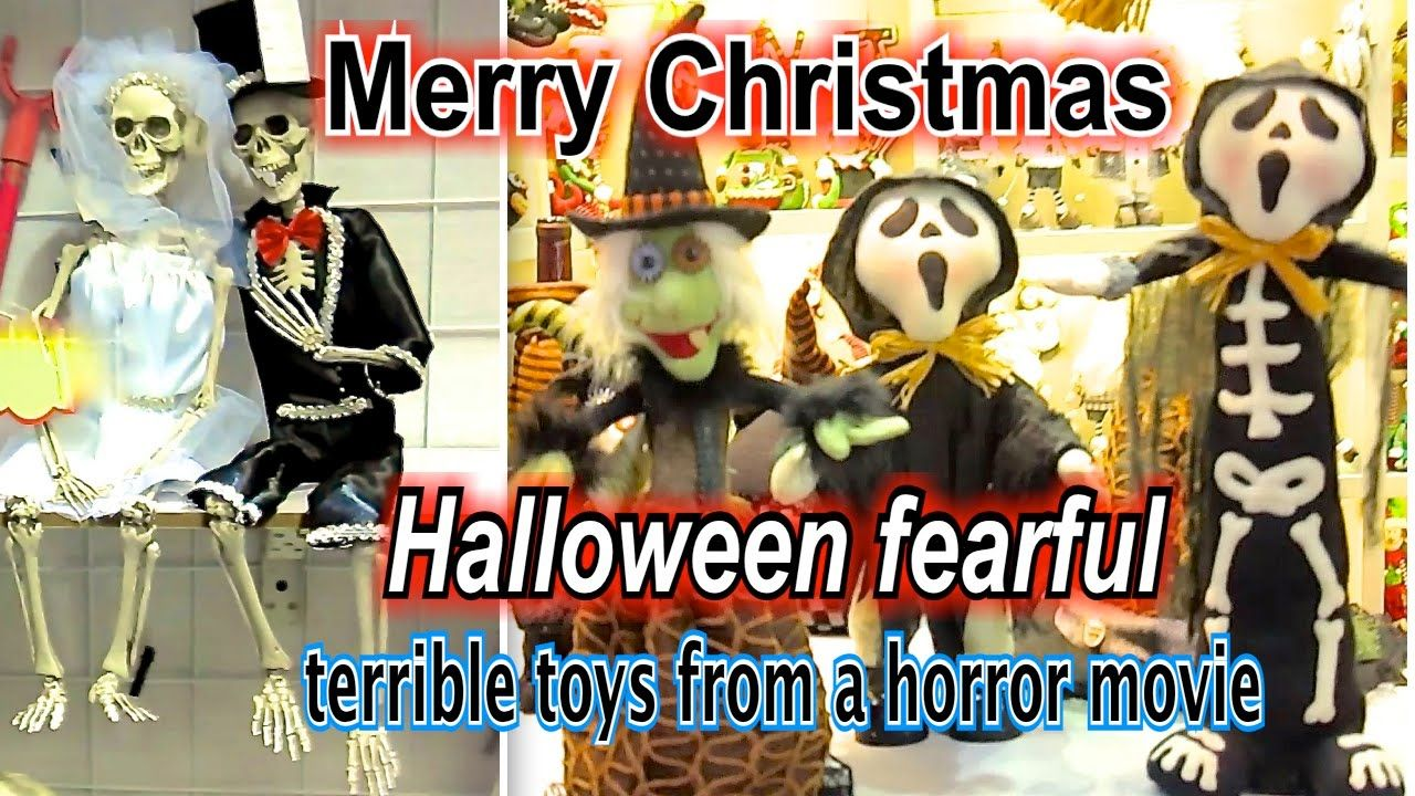 Christmas terrible toys from a horror movie happy new year