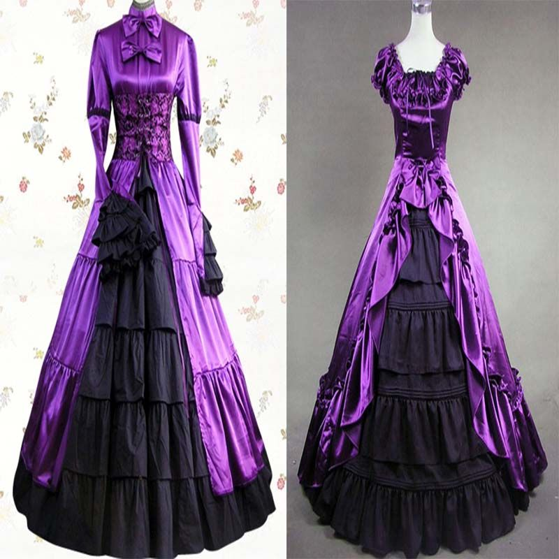 Dark Elegant Color in Gothic Wedding Dress: classic purple ...