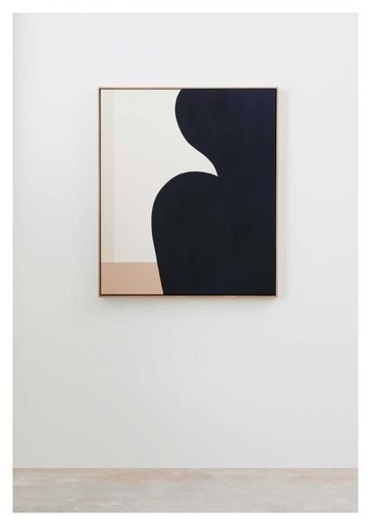 First Look Caroline Walls' minimalist painting collection inspired by the female form is part of Minimalist painting, Modern painting, Art, Abstract painting acrylic, Art painting, Painting - See inside the Australian artist's new exhibition at Modern Times