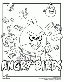 Site For Free Angry Birds Printable Coloring Pages Idea To Print Some And Put Them In The Goody Bags