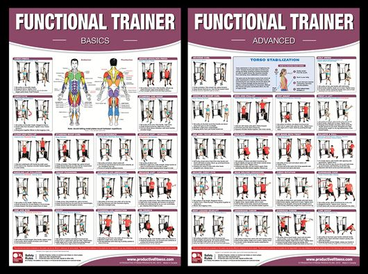 FUNCTIONAL TRAINER Professional Fitness Wall Charts Gym Workout Poster