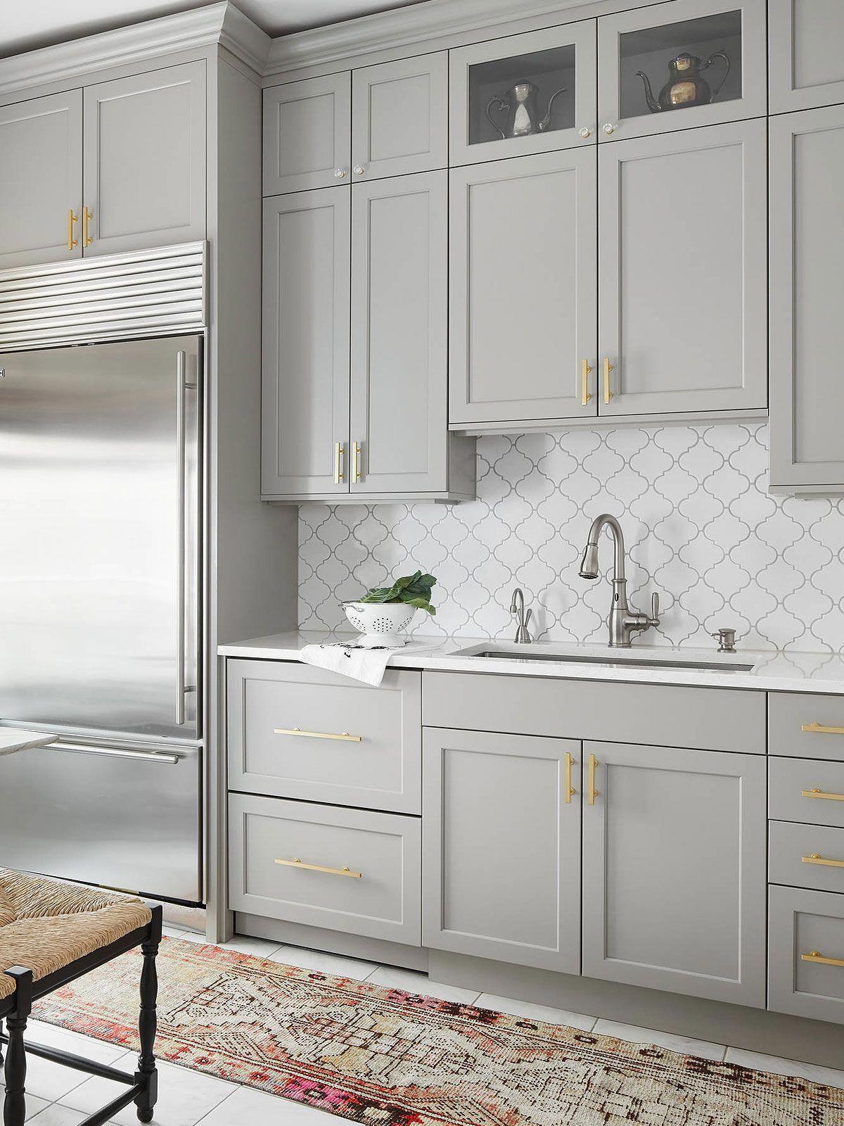 White Glazed Porcelain Arabesque Backsplash Tile Backsplash Com In 2020 Modern Kitchen Kitchen Layout Home Decor Kitchen