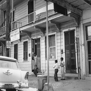 The former district of Storyville, photographed in 1955. (Evans/Three Lions/Getty Images)