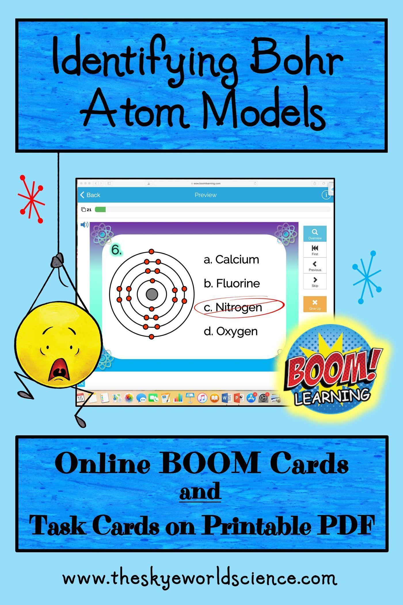 Identifying Bohr Atom Models Task Cards