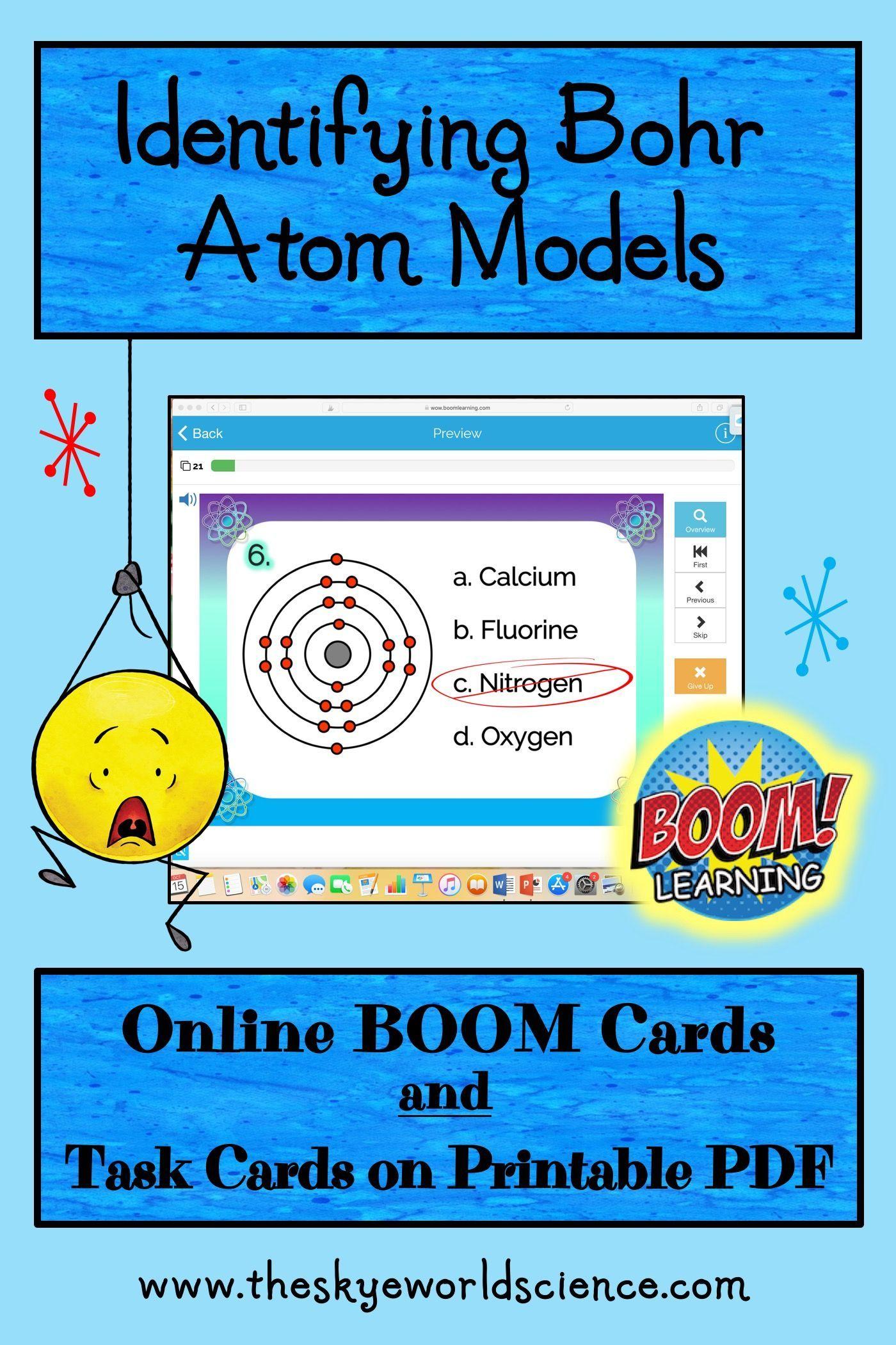 Identifying Bohr Atom Models Task Cards