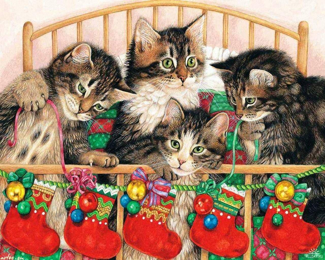 Год кошки открытки