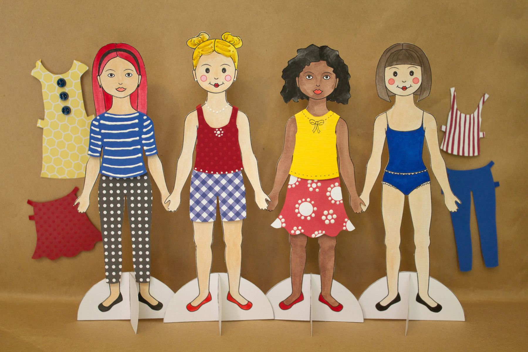 How To Make Paper Dolls Ehow Paper Dolls Diy Paper Dolls Paper Doll Making