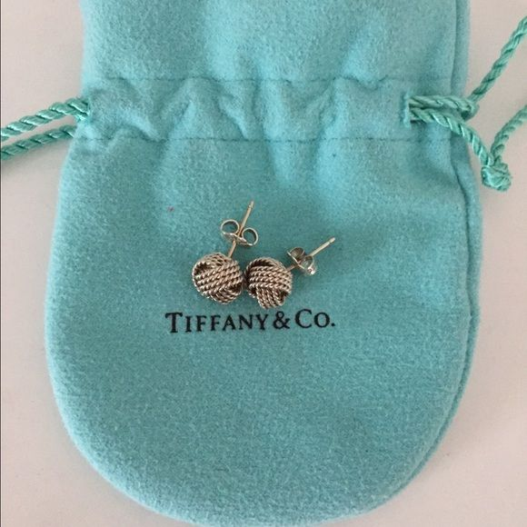 Authentic Tiffany Twist Knot Earrings And Co In Sterling Silver Good Condition Comes With Dust Bag Box