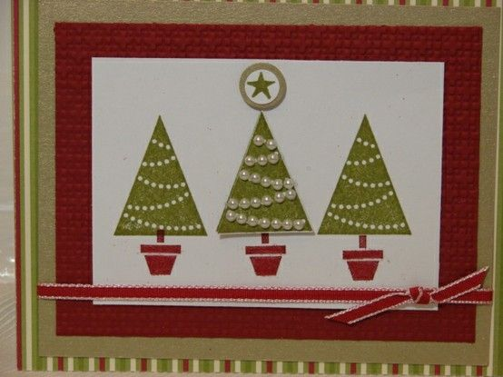 stampin up pennant parade card by talonqueen christmas cards