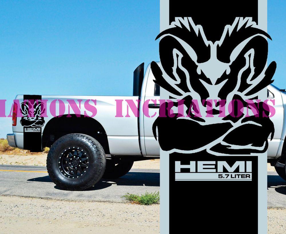 vinyl hood side stripe itm kit moproauto pro dodge power ram decals series design and graphics
