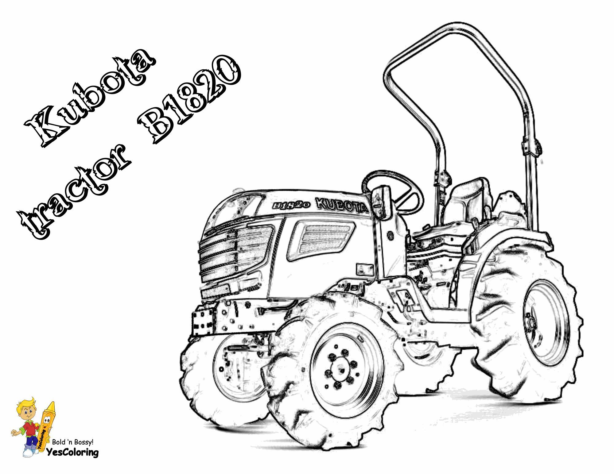 """Print Out This Kubota B1820 Tractor Coloring Picture! """"Sho ..."""