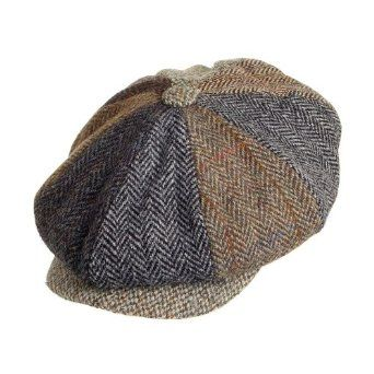 c2347808e Failsworth Harris Tweed Wool 8 Piece Lewis Flat Cap - Multi | hats ...