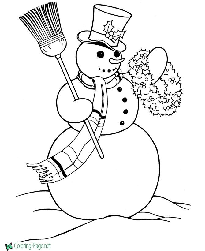 Snowman coloring pages - Free printable fun!! | Free Coloring Pages ...