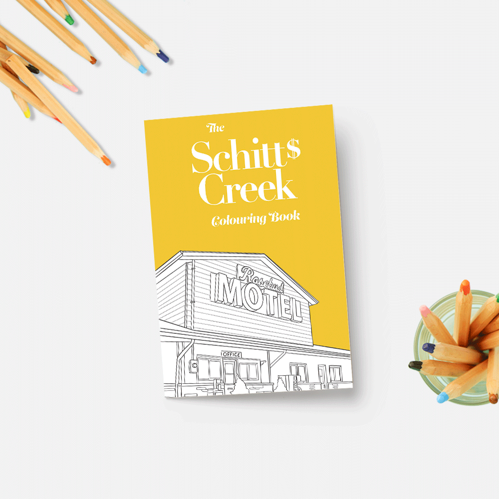 Schitts Creek Colouring Book Coloring Books Schitts Creek Rainy Day Activities