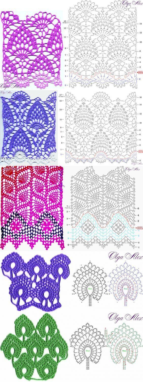 Crochet Patterns... ♥ Deniz ♥: | caminos de mesa y moldes ...