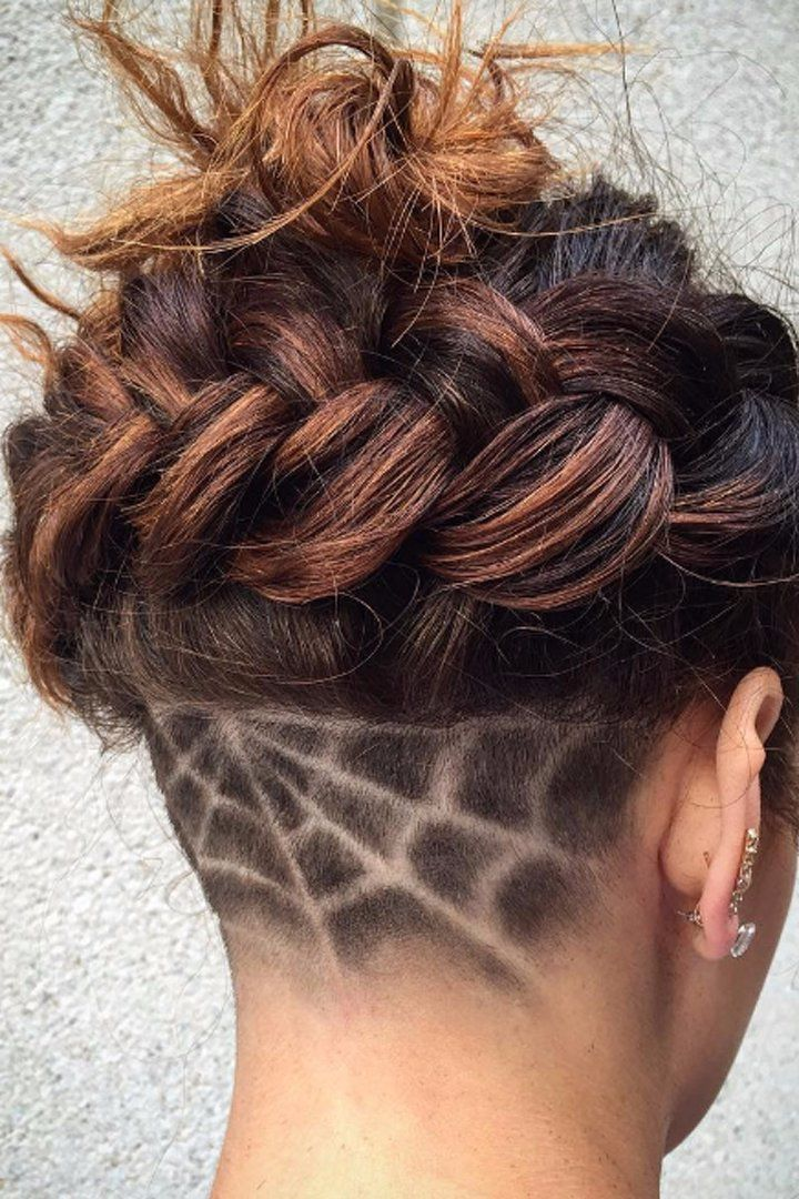 Show Off Your Dedication To Halloween With These Spooky Undercuts Undercut Long Hair Undercut Hairstyles Shaved Hair Designs