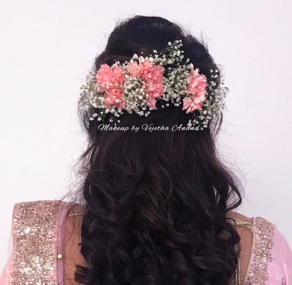 gorgeous bridal reception hairstyle by vejetha for swank