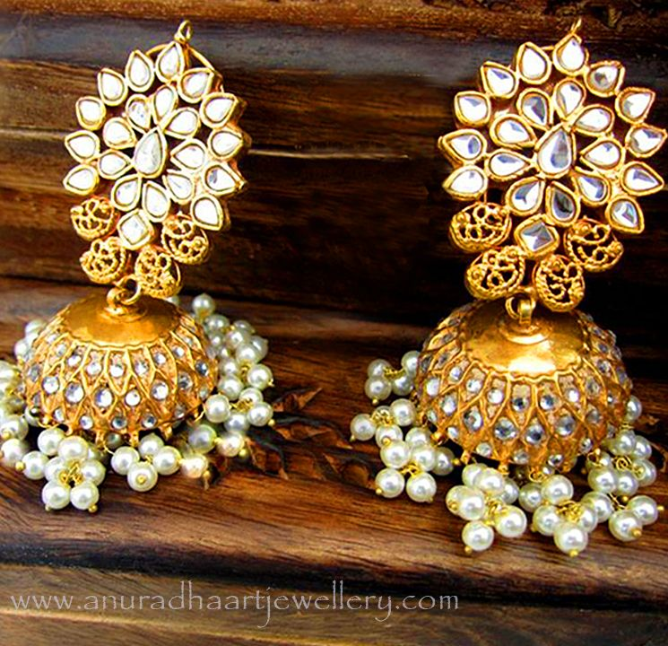 Different Types of Jhumka Earrings | Indian jewelry, Desi and ...
