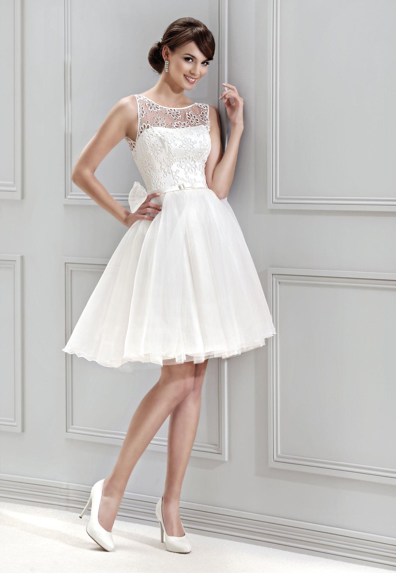 9f4695b28ac krátké svatební šaty Agnes 11843