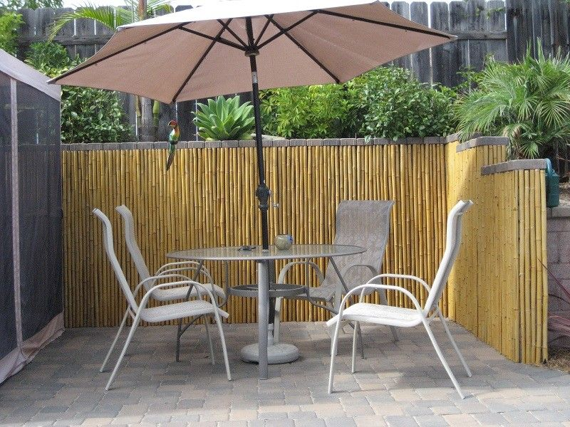 Free Shipping when you buy Bamboo Fence Natural at Sunsetbamboo.com,