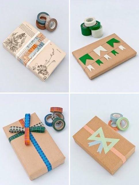 Washitapera: Cuatro ideas para envolver regalos con washi tape
