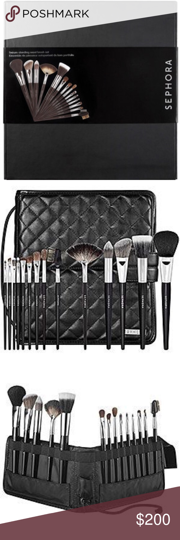 BRAND NEW!!🎈🎈SEPHORA 14 Piece Brush Set. Never used before, at the store this set is $275. You will not find it cheaper. Perfects for contouring and eyeshadow Sephora Makeup Brushes & Tools