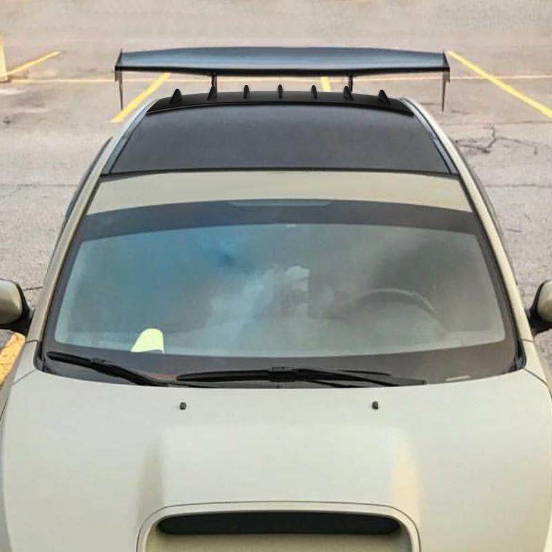 Spec D Roof Spoiler Subaru Wrx Vortex Generator 02 07 Matte Or Gloss Black Subaru Wrx Subaru Wrx