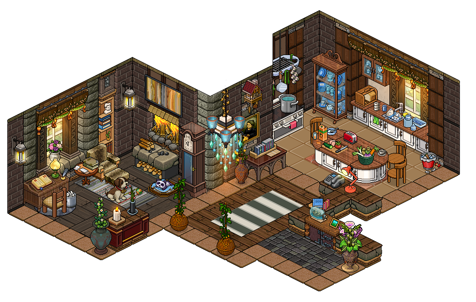 Hi It Sure Been A While Here Is The Inside Of The Little Piece Of Paradise Mountain House Hope You Enjoy The Detail Pixel Art Design Pixel Art Isometric Art
