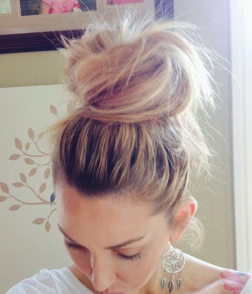 How To Beauty How To Make A Messy Top Knot Bun Top Knot Bun