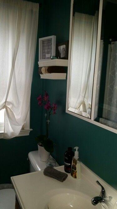 Sherwin Williams 6480 Lagoon | Framed bathroom mirror ...