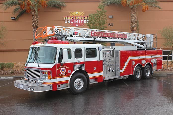 Refurbished ladder truck by Firetrucks Unlimited  #firetruck