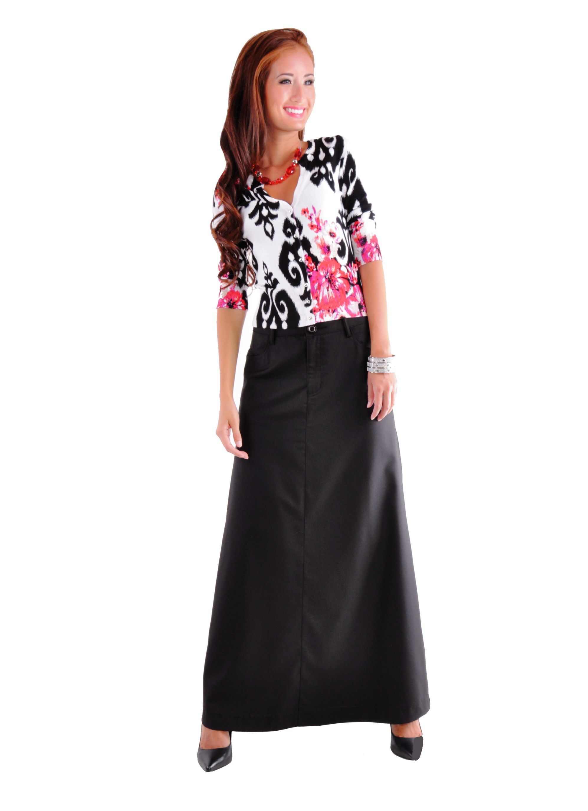Plain Black Long Skirt