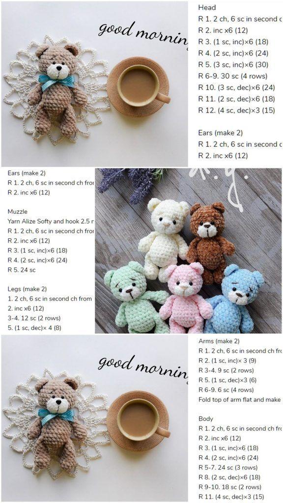Amigurumi Little Bear Free Häkelanleitung - Amigurumi Crochet, #amigurumi #Bear #crochet #cro... #teddybear